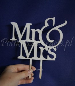 "Topper Cake ""Mr & Mrs"""