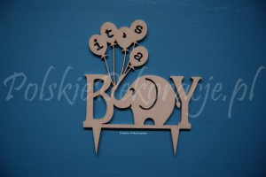 "Topper Cake ""Its a boy"" słonik"
